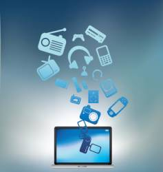 laptop electronic burst vector image vector image