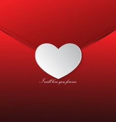 Love letter Valentines day vector image vector image