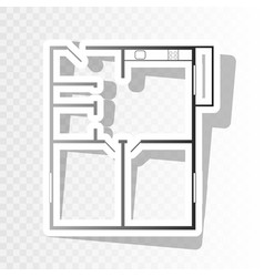 apartment house floor plans new year vector image vector image
