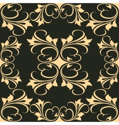 Artistic Graphic Design on Black Background vector image vector image