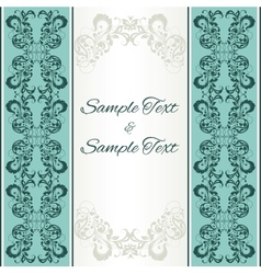 background with floral ornamental frame vector image vector image