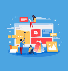 creation of web design for site vector image