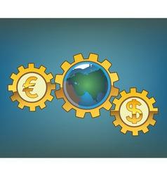 Money driven world vector