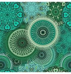 Seamless pattern with oriental mandalas Islam vector image vector image