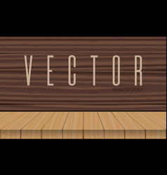 wood table top on rosewood background vector image