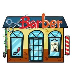 a barber shop vector image