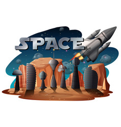 a space scene background vector image
