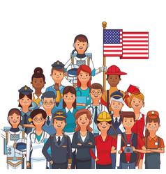 american labor day cartoon vector image