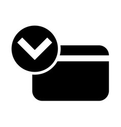 approved credit card icon vector image