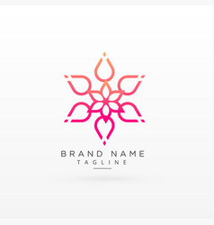 Beautiful flower logo concept design vector