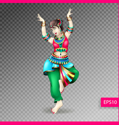 beautiful indian women dancing coloring vector image