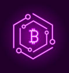 blockchain technology modern icon block vector image