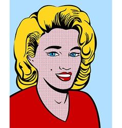 Blond pop art woman vector