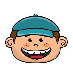 Boy smiling cartoon vector