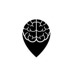 brain point place logo design template vector image