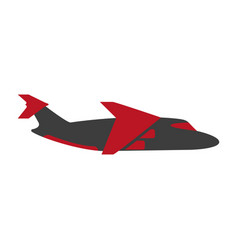 bright flying airplane vector image