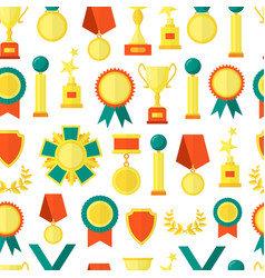 cartoon awards seamless pattern background vector image