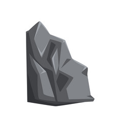 Cartoon icon of mountain stone gray rock vector