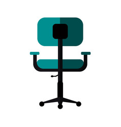 Chair office flat shadow vector