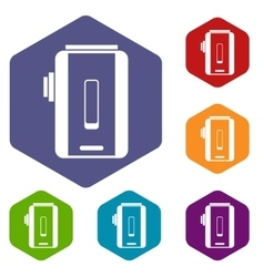 Charger icons set vector image