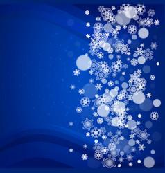 Christmas snow on blue background vector