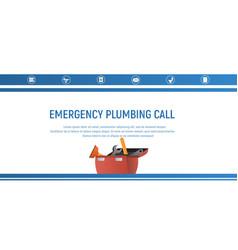 concept page plumbing fixture vector image