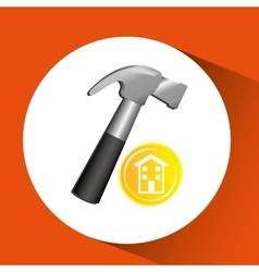 Construction remodel screw icon graphic vector