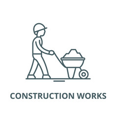construction works line icon vector image
