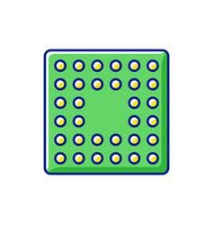 cpu socket rgb color icon vector image