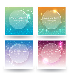 Cute abstrack bokeh backgrounds set for web or vector