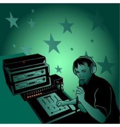 dj rhythm vector image