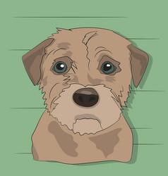 Dog portrait profile look down vector