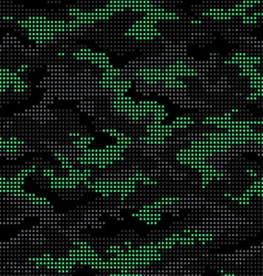 Dot camouflage seamless pattern black vector image