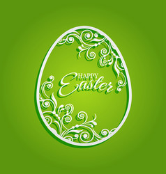 easter egg with flowers for greeting card vector image