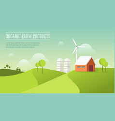 Eco village organic farming concept vector