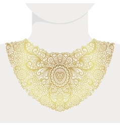 Fashion decorative golden neck print vector