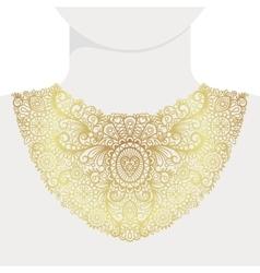 Fashion decorative golden neck print vector image