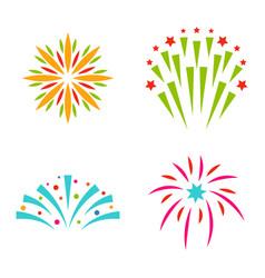 Firework celebration holiday vector