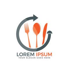 food logo design vector image