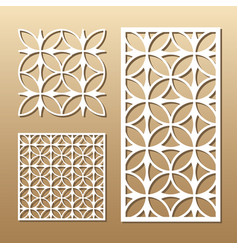 Geometric laser cut vector