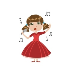 Girl future singer vector