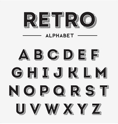 Graphic Retro Letters set vector image