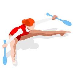 Gymnastics Rhythmic Clubs 2016 Summer Games 3D vector