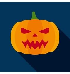 Halloween Pumpkin in Flat Style vector