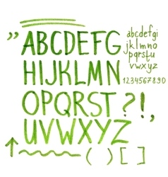 Hand drawn marker artistic font vector image