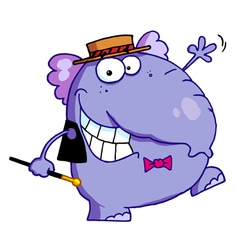 Happy Purple Elephant vector image