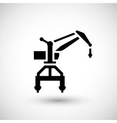 Harbor crane icon vector