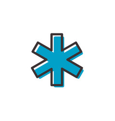 Hospital ems flat outline icon vector