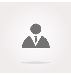 icon button with businessman inside vector image