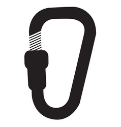 icon with climbing carabiner vector image